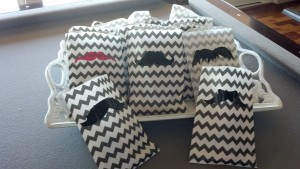 Mustache Gift bags